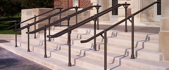 ADA Compliant Aluminum And Stainless Steel Handrails Are Available In Both  A Pre Engineered Completely Fabricated Version And As A Knock Down Kits Of  Parts.