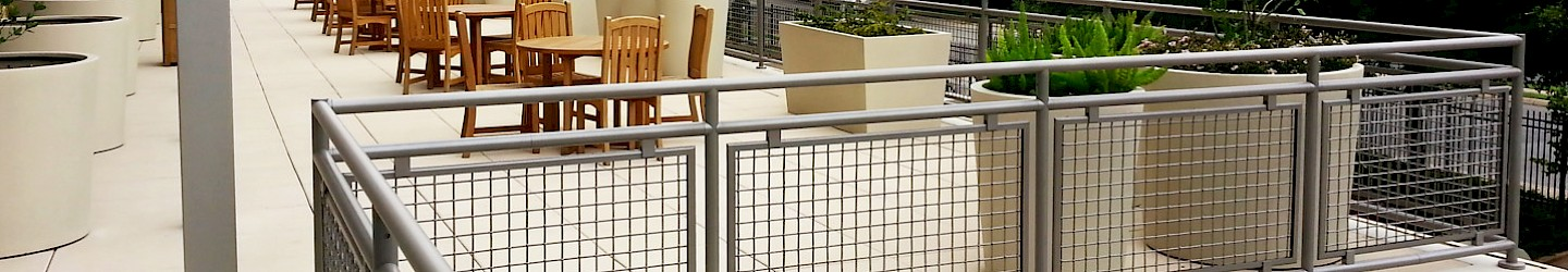 Wire Mesh Infill Panels Architectural Handrail By Hollaender - Architectural wire mesh