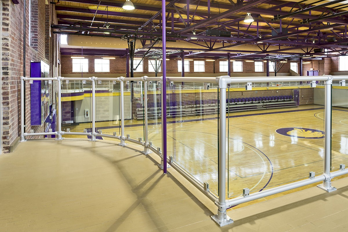 Speed-Rail® with Glass Infill Panels