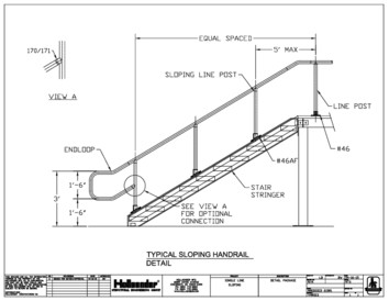 Interna-Rail® Single Line, Sloping