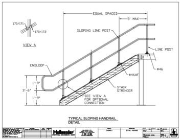 Interna-Rail® Sloping Handrail