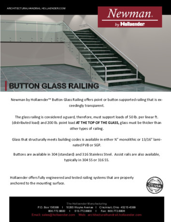 Newman by Hollaender™ Button Glass Railing