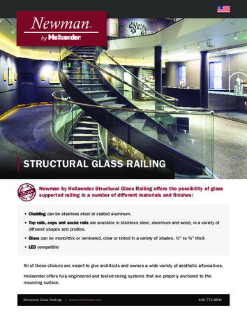 Newman by Hollaender™ Structural Glass Railing Product Data